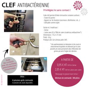 Clé antibactérienne - L'objet de la com'