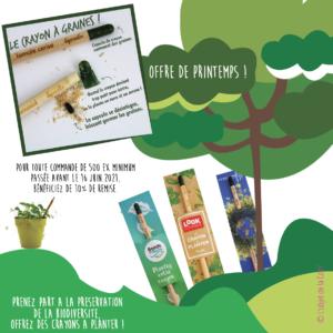 Promotion crayon à planter